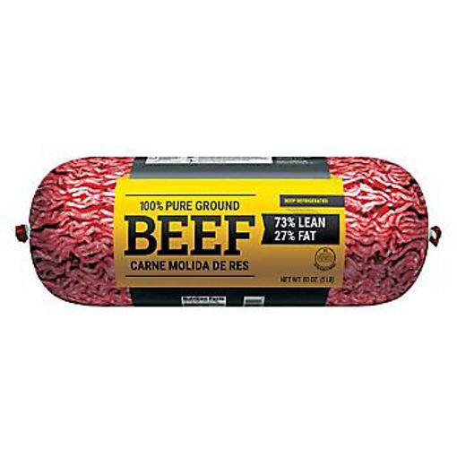 Picture of Signature Farms Ground Beef Hamburger Patties 73% Lean 27% Fat 10 Count
