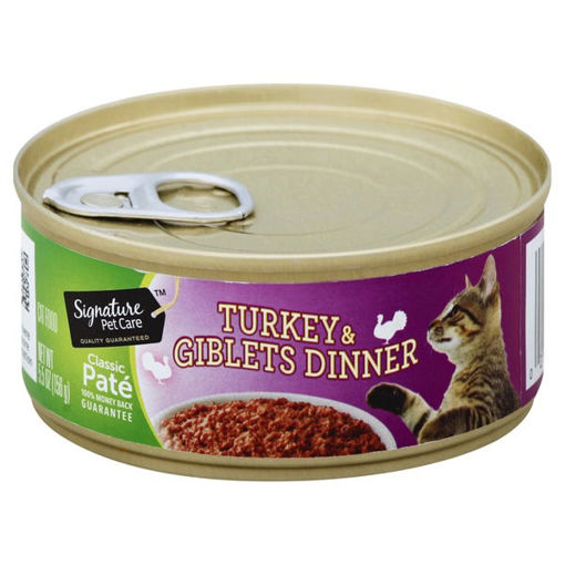Picture of Signature Pet Care Cat Food Classic Pate Turkey & Giblets Dinner Can