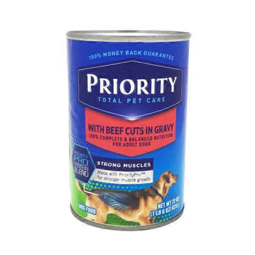 Picture of Signature Pet Care Dog Food Gravy Cuts Adult With Beef Cuts In Gravy Can