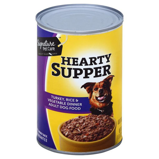 Picture of Signature Pet Care Dog Food Hearty Supper Adult Turkey Rice & Vegetable Dinner Can