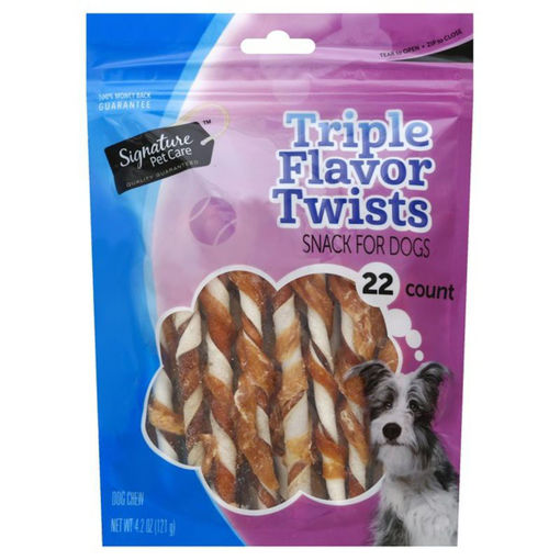 Picture of Signature Pet Care Dog Treat Dog Twist Pork Beef & Chicken