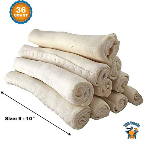 Picture of Signature Pet Care Dog Treat Natural Rawhide Retriever Rolls 10 Inch