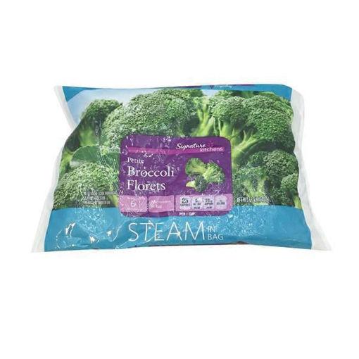 Picture of Signature SELECT Broccoli Florets Petite Steam In Bag