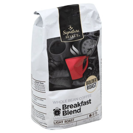 Picture of Signature SELECT Coffee Whole Bean Breakfast Blend Light Roast