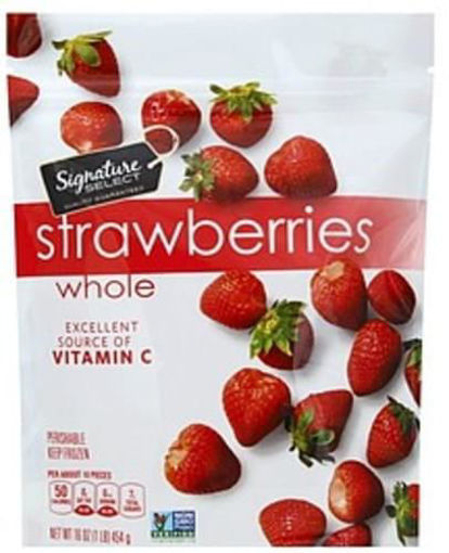 Picture of Signature SELECT Frozen Unsweetened Whole Strawberries
