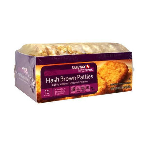 Picture of Signature SELECT Hash Browns Patties Shredded Potatoes Lightly Seasoned 20 Count