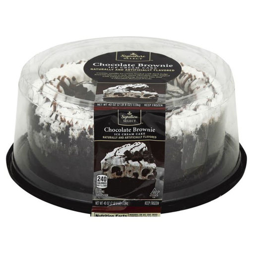 Picture of Signature SELECT Ice Cream Cake Chocolate Brownie 8 Inch