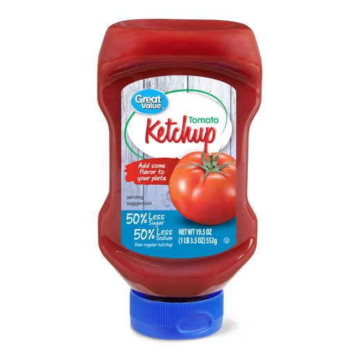 Picture of Signature SELECT Ketchup Tomato 50% Less Sodium 50% Less Sugar