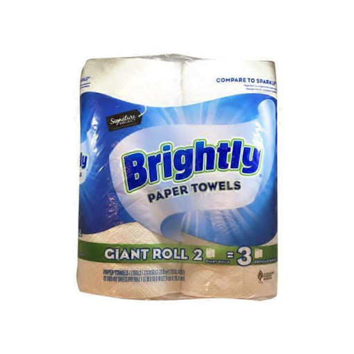 Picture of Signature SELECT Paper Towels Brightly Lint-Free Shine Big Roll 2 Ply Wrap