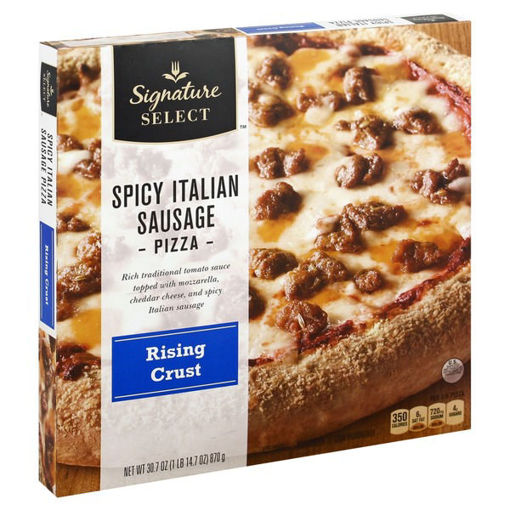 Picture of Signature SELECT Pizza Rising Crust Spicy Italian Sausage Frozen