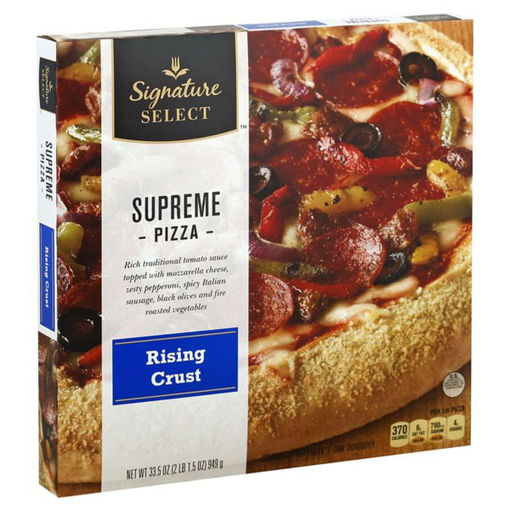 Picture of Signature SELECT Pizza Rising Crust Supreme Frozen