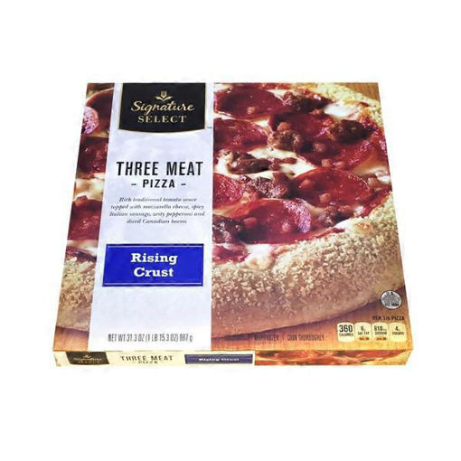 Picture of Signature SELECT Pizza Rising Crust Three Meat Frozen
