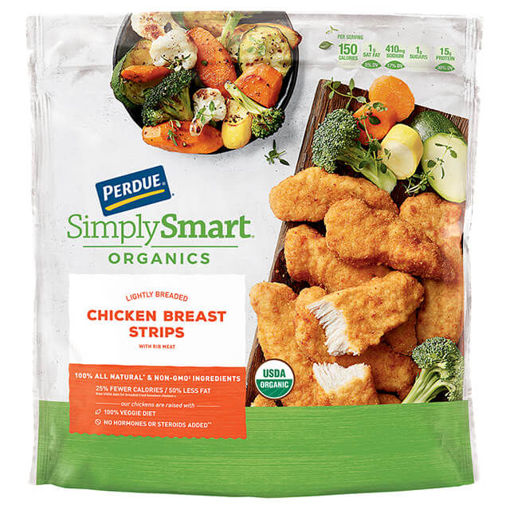 Picture of Simply Smart Non Antibotics Ever Lt Breaded Chicken Breast Strips