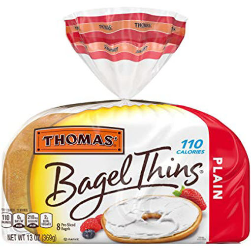 Picture of Thomas Bagel Thins Plain 8 Count