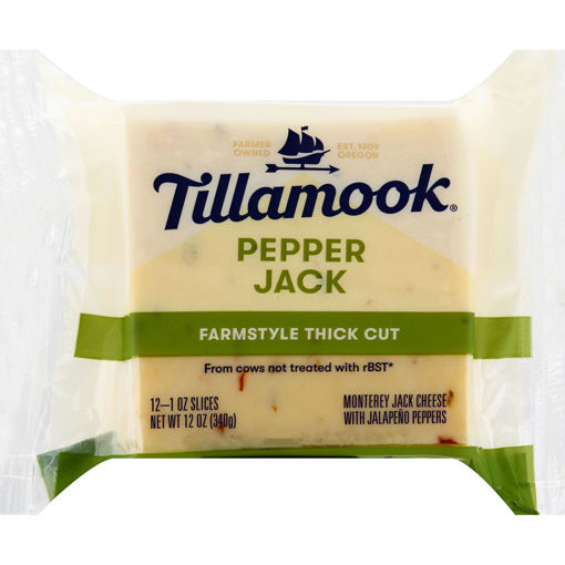 Picture of Tillamook Pepper Jack Natural Cheese Slices