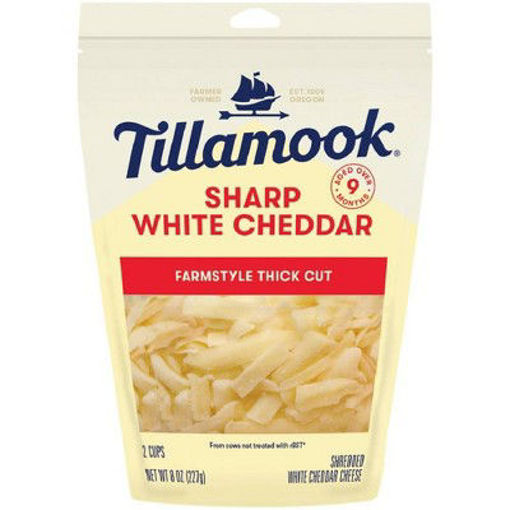 Picture of Tillamook Sharp White Cheddar Shredded Cheese Farmstyle Cut