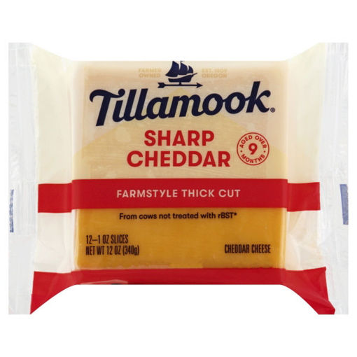 Picture of Tillamook Sliced Sharp Cheddar Cheese