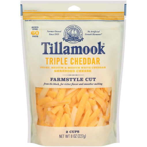 Picture of Tillamook Triple Cheddar Shredded Cheese
