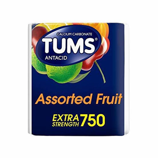 Picture of Tums Antacid Tablets Chewable Extra Strength 750 Assorted Fruit