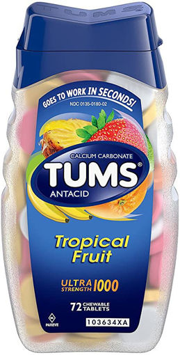 Picture of Tums Antacid Tablets Tropical Fruit Ultra