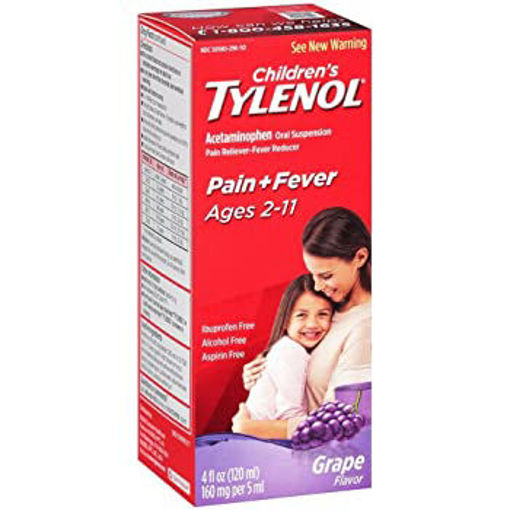 Picture of Tylenol Childrens Acetaminophen Suspension Grape Splash