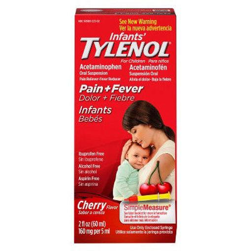 Picture of Tylenol Infants Drops Acetaminophen Suspension Cherry Flavor