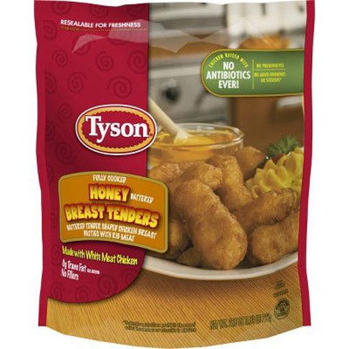 Picture of Tyson Fully Cooked Honey Battered Breast Tenders