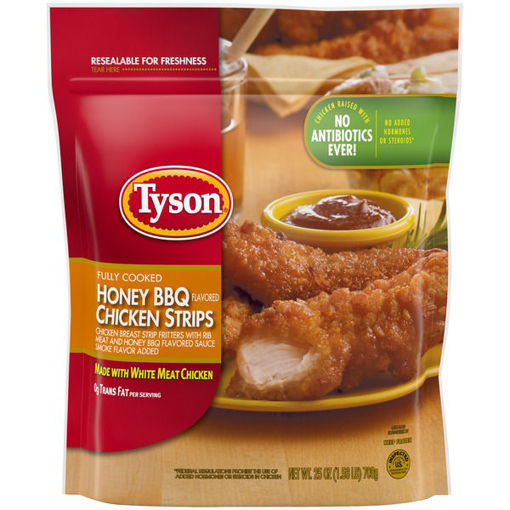 Picture of Tyson Fully Cooked Honey BBQ Chicken Strips