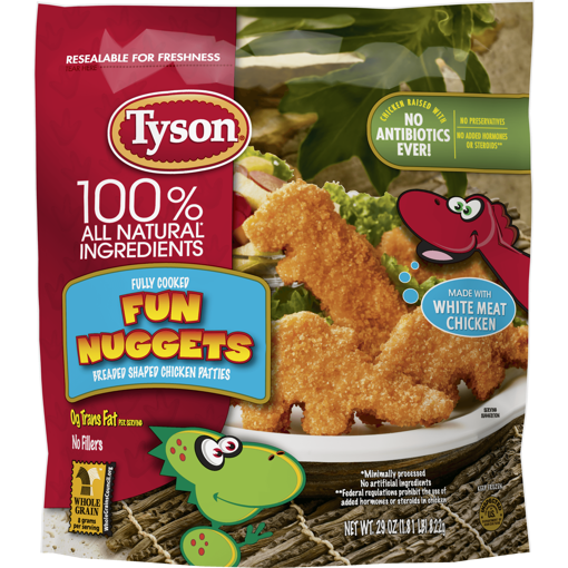 Picture of Tyson Fully Cooked Whole Grain Breaded Chicken Fun Nuggets