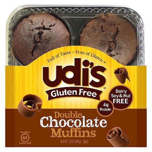 Picture of Udis Double Chocolate Muffins