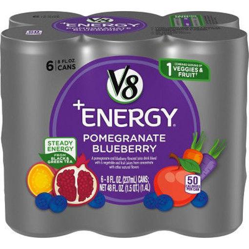 Picture of V8 V-Fusion +Energy Vegetable & Fruit Juice Pomegranate Blueberry