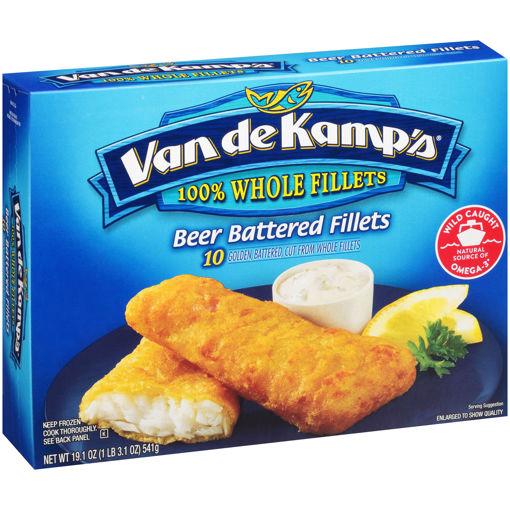 Picture of Van de Kamps Fillets Fish Beer Battered 10 Count