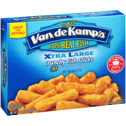 Picture of Van de Kamps Fish Sticks X-Large Crunchy 30 Count