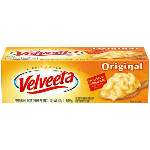 Picture of Velveeta Cheese Original Melts Better 45% Less Fat
