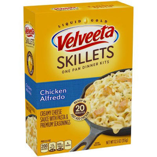 Picture of Velveeta Cheesy Skillets Dinner Kit Chicken Alfredo Box