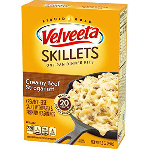 Picture of Velveeta Cheesy Skillets Dinner Kit Creamy Beef Stroganoff Box