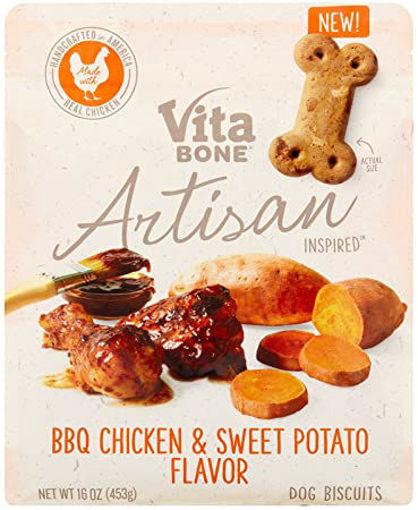 Picture of Vita Bone Dog Treats Biscuit Artisan Inspired BBQ Chicken & Sweet Potato Pouch