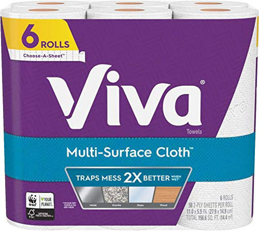 Picture of Viva Paper Towel Big Roll 2 Ply Choose A Sheet Multi Surface