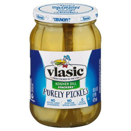 Picture of vlasic Stackers Pickles Kosher Dill