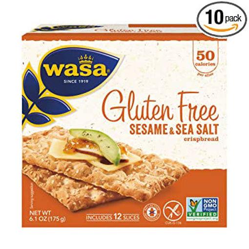 Picture of Wasa Crispbread Gluten Free Sesame & Sea Salt 12 Count