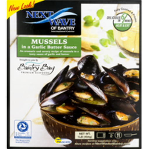 Picture of waterfront BISTRO Mussels Garlic Butter Sauce Fully Cooked Ready To Heat