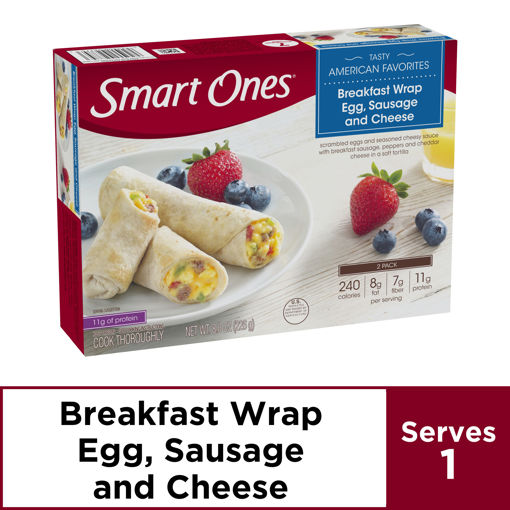 Picture of weightwatchers Smart Ones Smart Beginnings Breakfast Wrap Egg Sausage and Cheese