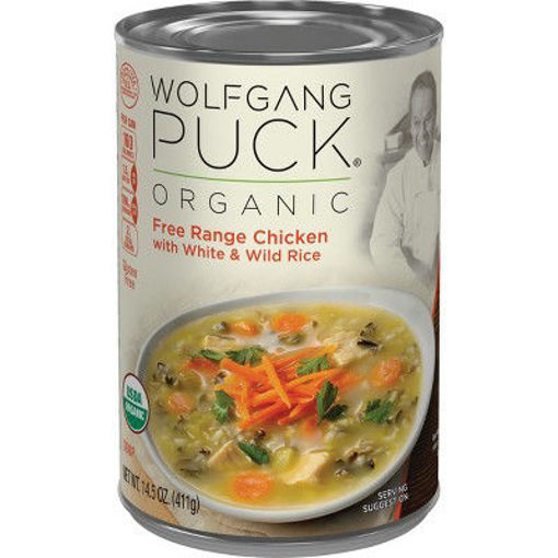 Picture of Wolfgang Puck Soup Organic Free Range Chicken with White & Wild Rice