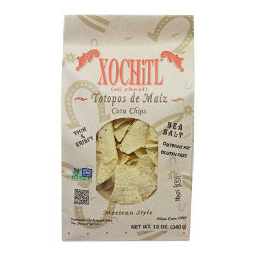Picture of Xochitl Corn Chips Organic Mexican Style White Sea Salt