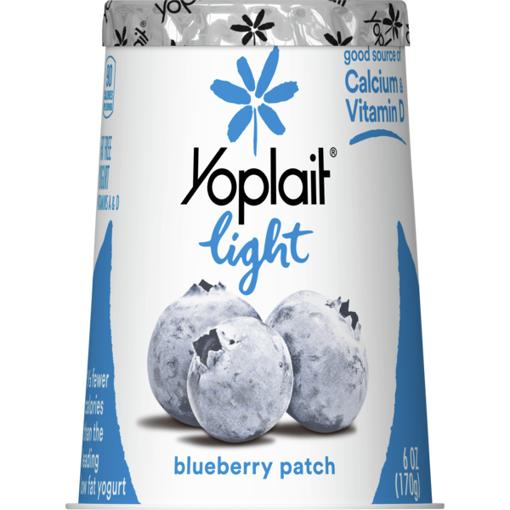 Picture of Yoplait Light Yogurt Fat Free Blueberry Patch