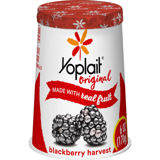 Picture of Yoplait Original Yogurt Low Fat Blackberry Harvest
