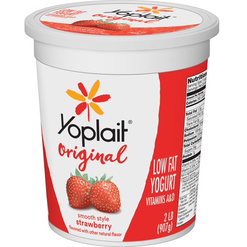 Picture of Yoplait Original Yogurt Low Fat Smooth Style Strawberry Flavored