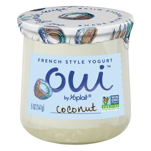 Picture of Yoplait Oui Yogurt French Style Coconut
