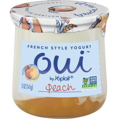 Picture of Yoplait Oui Yogurt French Style Peach