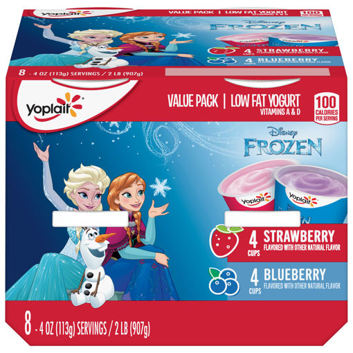Picture of Yoplait Yogurt Low Fat Disney Frozen Blueberry Strawberry Value Pack
